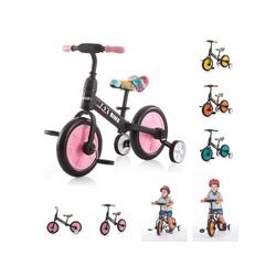 Chipolino Laufrad Dreirad, Laufrad 2 in 1 Max Bike 10 Zoll (25,40 cm) Zoll, 10 Zoll Räder, Pedale, Stützräder rosa