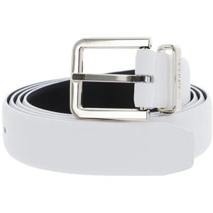 Calvin Klein Metal Loop Belt 25mm W75 CK White