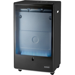ROWI Gasheizung HGO 4200/2 BFT Pro Premium Eco Smart, 4,2 kW mit Thermostat schwarz