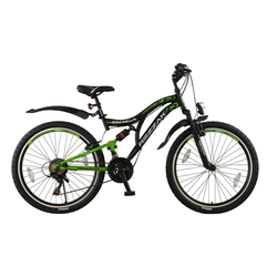 Rezzak Mountainbike 26 Zoll Kinder Jugend Herren Jungen Fahrrad MTB Mountainbike Bike Rad-056, 21 Gang Shimano, Kettenschaltung