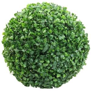 Knowooh künstliche Buchsbaumkugel runde Dekopflanze, Buchsbaumkugel, Buchskugel wetterfest, Garten Deko Buchsbaum Kugel künstlich Buchskugel(15cm)