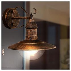 etc-shop LED Laterne, Außen Bereich Retro Wand Leuchte schwarz gold Stahl Laterne im Set inkl. LED Leuchtmittel