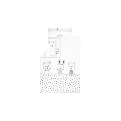 Julius Zoellner Bettwäsche in weiß mit Muster Grobies, 100 x 135 cm