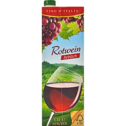 Italienischer Rotwein lieblich 9,5 % vol 1,5 Liter