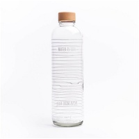 yogabox 700ml CARRY Glastrinkflasche WATER IS LIFE