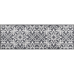 Wash+Dry Design Fußmatte, Polyamid, grau, 60x180 cm