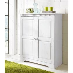 Home affaire Kommode Cubrix, aus schönem massivem Kiefernholz, Höhe 100 cm weiß
