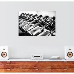 Posterlounge Wandbild, Gewichte in einem Fitnessstudio 91 cm x 61 cm