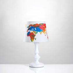 Tischlampe Weltkarte