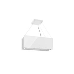 Klarstein Inselhaube Kronleuchter XL Inselabzugshaube 90cm Umluft 590m³/h LED Touch weiß
