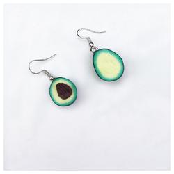 Eyecatcher Ohrring-Set Avocado Ohrringe. Hakenohrringe grün