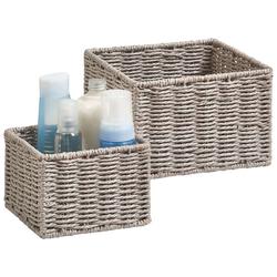 Aufbewahrungskorb Aufbewahrungskörbchen (Set, 2 Stück), ideal fürs Bad, Wohnzimmer oder Büro