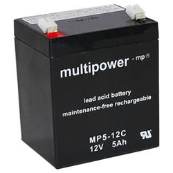 Blei-Akku Multipower MP5-12C, 12 Volt, 5 Ah
