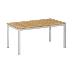 Dehner Gartentisch Toulouse, 152 x 90 x 75 cm, FSC® Holz/Edelstahl
