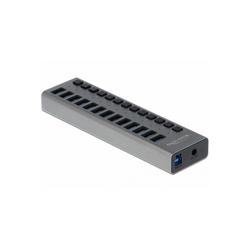 Delock USB 3.0 Hub mit 13 Ports + Schalter USB-Kabel