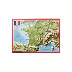 Frankreich  Reliefpostkarte