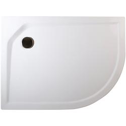 Schulte Duschwanne extra-flach, rund, Acryl, Set, rund, BxT: 75 x 90 cm
