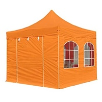 TOOLPORT Faltpavillon 3 x 3 m inkl. Seitenteile orange