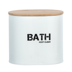 WENKO Gara Badbox, mit Deckel, Aufbewahrungsbox für das Badezimmer, Maße (B x H x T): 14,5 x 13,5 x 10,5 cm, weiß