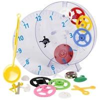 Technoline Techno Line Model kids clock Mechanisch Wanduhr Lernbausatz 20cm x 3.5cm Transparent