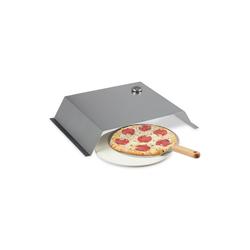 relaxdays Pizzaofen-Grillaufsatz BBQ Pizzaaufsatz, Pizzastein & Schieber, Edelstahl