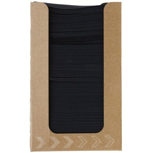 Duni Spenderbox Dunisoft Servietten Schwarz 20x20 1/4 Falz 100 Stück