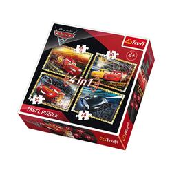 Trefl Puzzle Puzzles 4in1 - 35/48/54/70 Teile - Cars 3, Puzzleteile