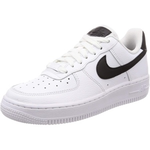 Nike Unisex Air Force 1 '07 Turnschuh, White White Black, 43 EU