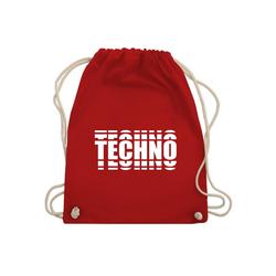 Shirtracer Turnbeutel Techno in Grafischem Muster - Festival - Turnbeutel - Jutebeutel & Taschen, turnbeutel techno