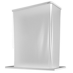 ECO-DuR 4024879000516 Kassetten ECK Duschrollo 137 x 62 cm weiß - Folie unbedruckt