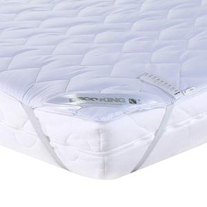 DecoKing Matratzenschoner 200x200 cm 100% Mikrofaser Matratzentopper widerstandsfähig komfortabel weiß Light Cover