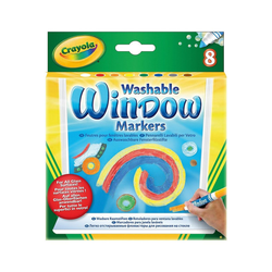Fenstersticker Fenstermalstifte, 8 Farben, Crayola®