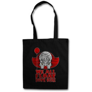 WE ALL FLOAT DOWN HERE STOFFTASCHE Clown Pennywise Stephen It Ship King Es