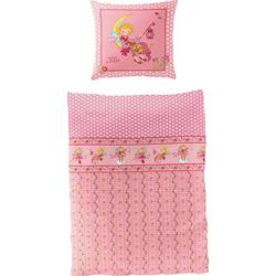 Kinderbettwäsche Mond, Prinzessin Lillifee, mit Muster rosa