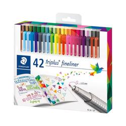 STAEDTLER Fineliner Fineliner triplus, 42 Farben