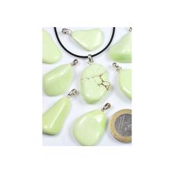 Adelia´s Kettenanhänger Zitronen Magnesit Anhänger 925 Silber