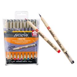 Sakura Pinselstift Pinselstifte Pigma brush, 9 Stück