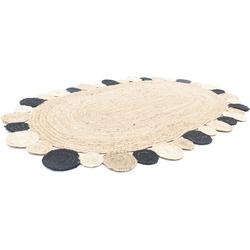 Teppich Sisalteppich Teppich Boldo, morgenland, oval, Höhe 6 mm 90 cm x 160 cm x 6 mm