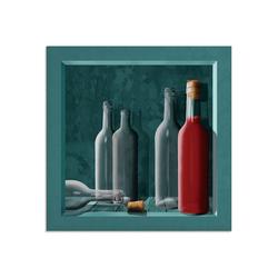 Artland Glasbild Saftkiste, Getränke (1 Stück) 50 cm x 50 cm x 1,1 cm