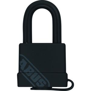 ABUS Messing-Vorhangschloss 70/35 mit Kunststoffmantel, schwarz, 53971