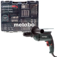 METABO Schlagbohrmaschine SBE 650 Set mobile Werkstatt