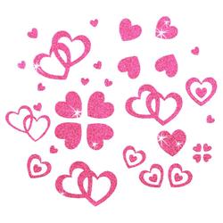 Herz Sticker Set Glitter Glitzernd - rosa