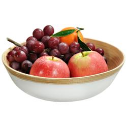Kesper Gebäckschale Bambus, weiß, Eignet sich ideal zum Servieren von Obst oder Süßigkeiten, Maße (H x B x T): 6 x 23 x 23 mm
