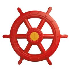 ROG-Gardenline Spielzeug-Steuerrad, Für Schiff / Spielturm aus Kunststoff - Ø 55 CM - Rot rot