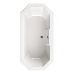 aquaSu Badewanne, (1-tlg), Weiß, 180 x 90 cm, Acryl, 8-Eck Badewanne 8-Eck Badewanne - 90 cm x 41 cm x 180 cm