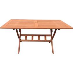 Grasekamp Gartentisch Santos 160x90cm Klapptisch  Balkontisch Tisch Esstisch