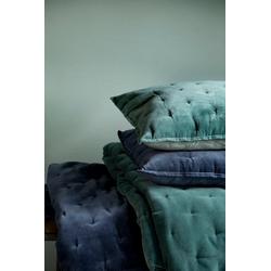 Walra Dekokissen Velvet Touch, mit gewebten Punkten blau 50 cm x 50 cm