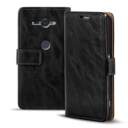 Retro Tasche für Sony Xperia XZ2 Compact Hülle Wallet Case Handyhülle Vintage Slim Cover