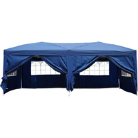 Outsunny Faltpavillon 3 x 6 m inkl. 6 Seitenteile blau