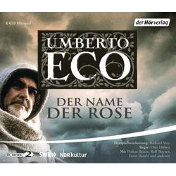 Der Name der Rose als Hörbuch CD von Umberto Eco/ Rolf Boysen/ Ernst Jacobi/ Markus Boysen/ Otto Düben